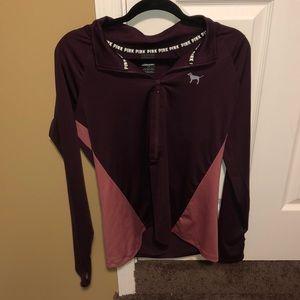 vs pink ultimate 3/4 zip